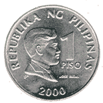 Piso is the term used by Filipinos for this coin which means One Peso. Ang mukha na nasa coin na ito ay si Jose Rizal, National hero of the Philippines, na sabi noong isang friend ko sa internet ay kamukha ko raw. LOL